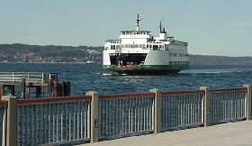 It seems like there is always a ferry landing or leaving the ferry dock at Mukilteo.