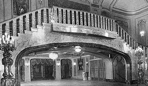 The lobby of the Paramount Theatre.